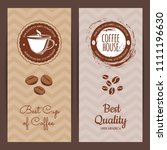 coffee shop or brand logo... | Shutterstock . vector #1111196630