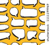 hand drawn seamless pattern... | Shutterstock .eps vector #1111199969