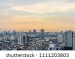 scenic of urban cityscape with... | Shutterstock . vector #1111203803