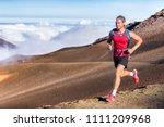 trail running runner man on... | Shutterstock . vector #1111209968