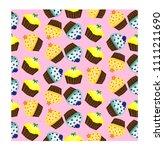 birthday background. seamless... | Shutterstock .eps vector #1111211690