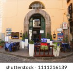 sorrento  italy july 21 2017  a ... | Shutterstock . vector #1111216139