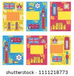 england brochure cards thin... | Shutterstock . vector #1111218773