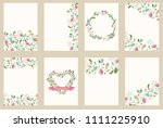 set of flower wedding ornament... | Shutterstock . vector #1111225910