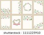 set of flower wedding ornament... | Shutterstock . vector #1111225910