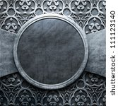 Silver Metal Round Plate With...
