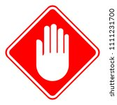 access denied rhombus sign.... | Shutterstock .eps vector #1111231700