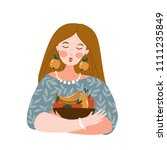 vector illustration of young... | Shutterstock .eps vector #1111235849