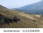 slopes of mountains covered... | Shutterstock . vector #1111236350