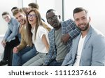 young people sitting at the... | Shutterstock . vector #1111237616