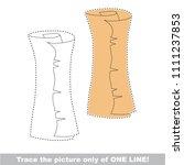 drawing worksheet for preschool ... | Shutterstock .eps vector #1111237853