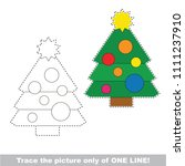 drawing worksheet for preschool ... | Shutterstock .eps vector #1111237910