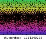 vector spectrum colorful pixels ... | Shutterstock .eps vector #1111240238