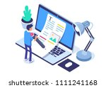 copywriting concept banner... | Shutterstock .eps vector #1111241168