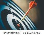 close up shot of the dart arrow ... | Shutterstock . vector #1111243769