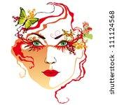 resumen,atractivo,hermosa,belleza,bloom,mariposa,coiffure,cosmética,rizo,elegancia,elegante,ojo,cara,fantasía,hembra
