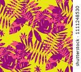 vivid bright jungle foliage... | Shutterstock .eps vector #1111248530
