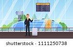 passenger man waiting for...   Shutterstock .eps vector #1111250738