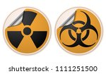 radioactive and biohazard... | Shutterstock .eps vector #1111251500