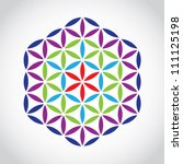 Flower Of Life Symbol Color...