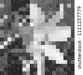 black and white grainy dotwork... | Shutterstock .eps vector #1111257779