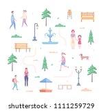 city park elements   set of... | Shutterstock . vector #1111259729
