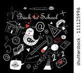 back to school sketch | Shutterstock .eps vector #111125996