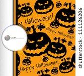 halloween grunge vector pattern ... | Shutterstock .eps vector #111126206
