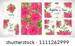 wedding floral template invite  ...   Shutterstock .eps vector #1111262999