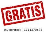 square grunge red gratis stamp | Shutterstock .eps vector #1111270676