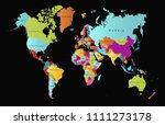 color world map vector   Shutterstock .eps vector #1111273178
