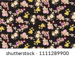 cute floral pattern in the... | Shutterstock .eps vector #1111289900