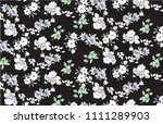 cute floral pattern in the... | Shutterstock .eps vector #1111289903