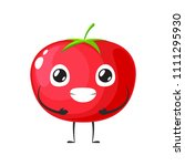 red tomato is holding stomach | Shutterstock .eps vector #1111295930