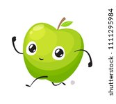 green apple is running sprint | Shutterstock .eps vector #1111295984