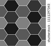 hexagons. honeycomb. mosaic.... | Shutterstock .eps vector #1111297343