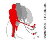 floorball player vector...   Shutterstock .eps vector #1111303286