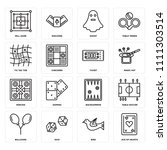 set of 16 icons such as ace of...