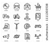 set of 16 icons such as balance ... | Shutterstock .eps vector #1111303538