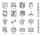 set of 16 icons such as stage ...