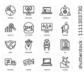 set of 16 icons such as... | Shutterstock .eps vector #1111303730