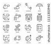 set of 16 icons such as earth ...