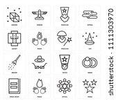 set of 16 icons such as magic ...