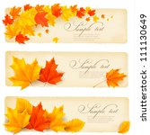 three autumn banners with... | Shutterstock .eps vector #111130649