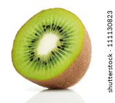 Juicy Kiwi Fruit Isolated On...