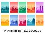 travel information cards.... | Shutterstock . vector #1111308293