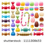 colorful sweets set   hard... | Shutterstock .eps vector #1111308653