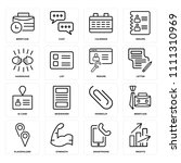 set of 16 icons such as profits ... | Shutterstock .eps vector #1111310969