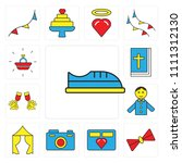 set of 13 simple editable icons ... | Shutterstock .eps vector #1111312130