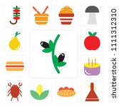 set of 13 simple editable icons ... | Shutterstock .eps vector #1111312310